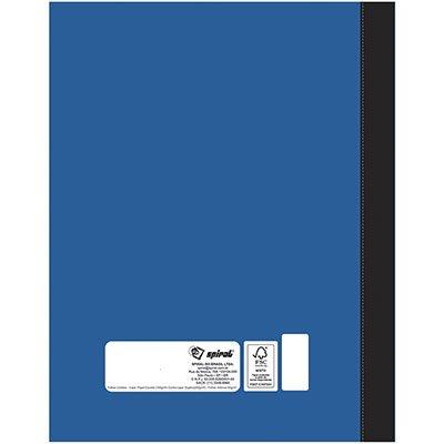 Caderno universitário 1x1 96 folhas coladas wireless Azul 11756 Spiral PT 1 UN