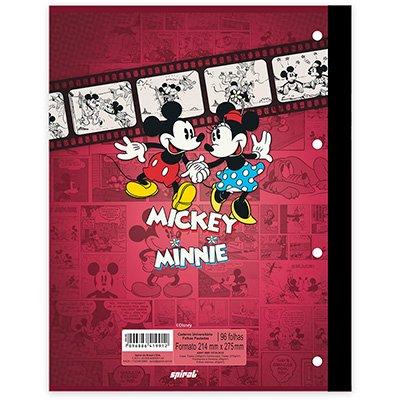 Caderno univ.1x1 96fls coladas Wireless M.Minnie 20398 Spiral Dm PT 1 UN