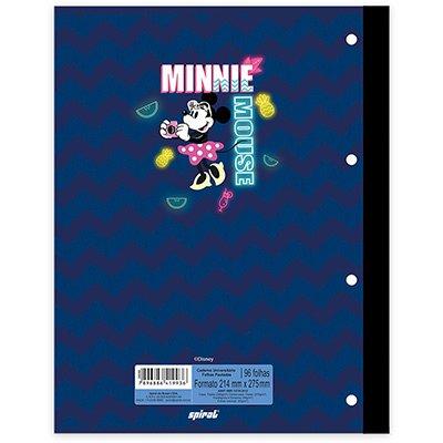 Caderno univ.1x1 96fls coladas Wireless Minnie 20400 Spiral Mte PT 1 UN