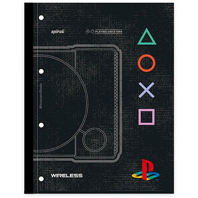 Caderno univ.1x1 96fls coladas Wireless Plays. 20414 Spiral Ps PT 1 UN