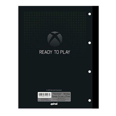 Caderno univ.1x1 96fls coladas Wireless XBox 20419 Spiral Xbox PT 1 UN