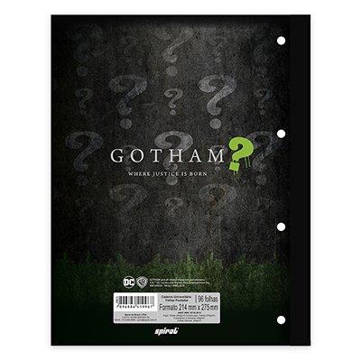 Caderno univ.1x1 96fls coladas Wireless Gotham 20405 Spiral Gth PT 1 UN