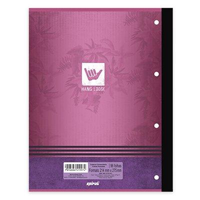 Caderno univ.1x1 96fls coladas Wireless H.Loose 20406 Spiral Ha PT 1 UN