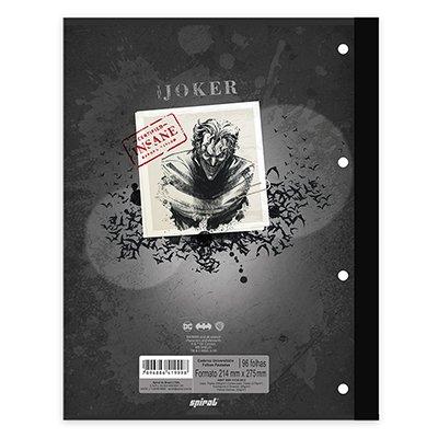 Caderno univ.1x1 96fls coladas Wireless Joker 20408 Spiral Jok PT 1 UN