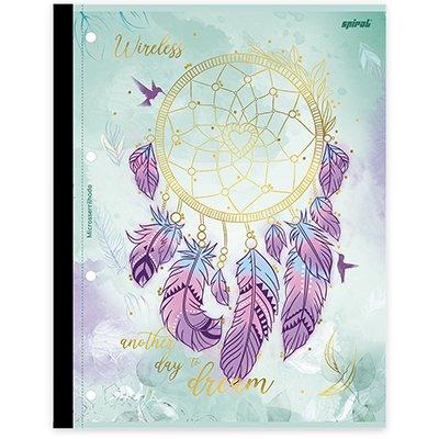 Caderno universitário 1x1 80 folhas coladas wireless Dreams 213123 Spiral PT 1 UN