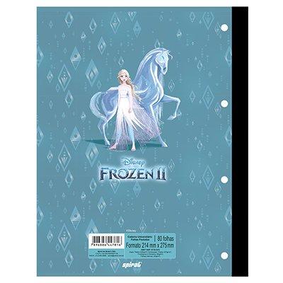 Caderno universitário 1x1 80 folhas coladas wireless Frozen 213127 Spiral PT 1 UN