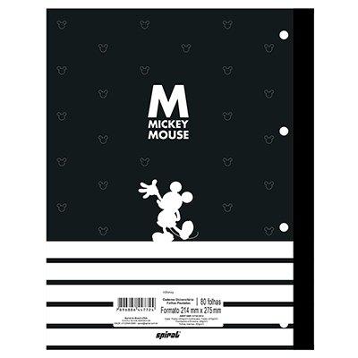Caderno universitário 1x1 80 folhas coladas wireless Disney Mickey PB 213117 Spiral PT 1 UN