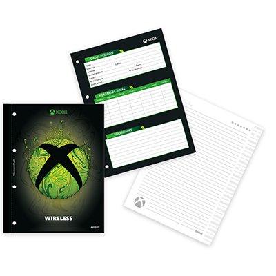 Caderno universitário 1x1 80 folhas coladas wireless XBox 213175 Spiral PT 1 UN