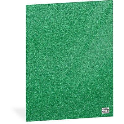 Folha em EVA 600x400x2mm verde bandeira c/ brilho 01 Spiral UN 1 UN