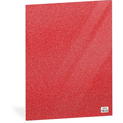 Folha em EVA 600x400x2mm vermelho c/ brilho 01 Spiral UN 1 UN