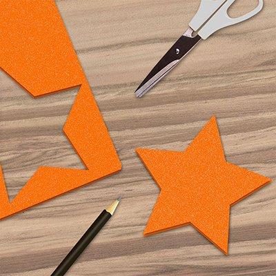 Folha em EVA 600x400x2mm laranja c/ brilho 01 Spiral UN 1 UN