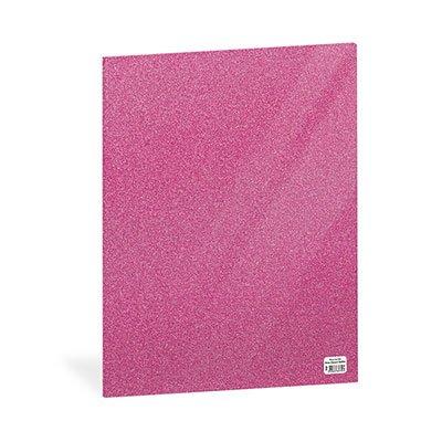 Folha em EVA 600x400x2mm rosa escuro c/ brilho 01 Spiral UN 1 UN