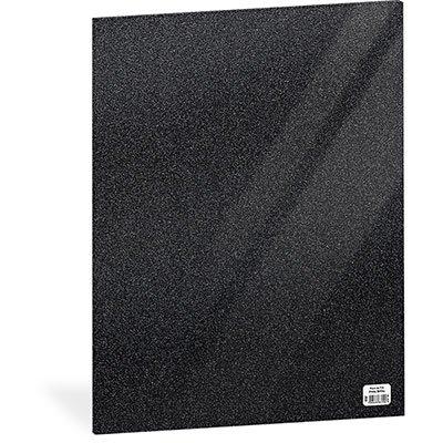 Folha em EVA 600x400x2mm preto c/ brilho 01 Spiral UN 1 UN