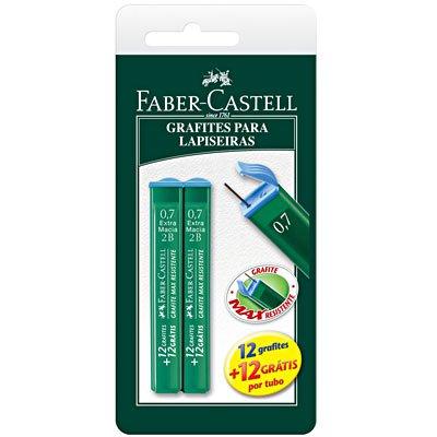 Minas grafite 0.7mm 2B SM/TMG072B Faber Castell BT 2 UN