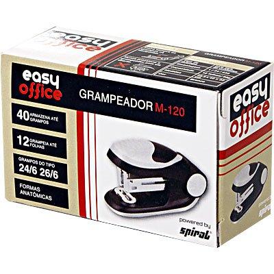 Grampeador mini 24/6 e 26/6 12fl M-120 Easy Office CX 1 UN