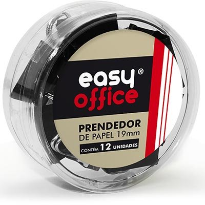 Prendedor de papel 19mm 300119 Easy Office PT 12 UN
