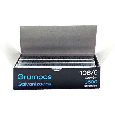 Grampo p/grampeador rocama 106/6 galvanizado Spiral Grampos CX 3500 UN
