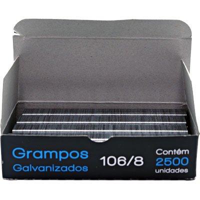 Grampo p/grampeador rocama 106/8 galvanizado Spiral Grampos CX 2500 UN