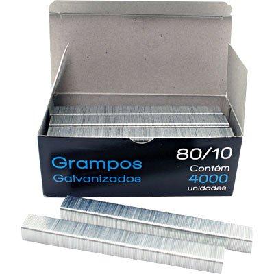 Grampo p/grampeador rocama 80/10 galvanizado Spiral Grampos CX 4000 UN