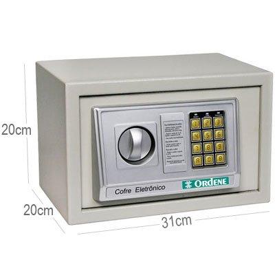 Cofre eletrônico digital 20x20x31cm 38000 Ordene CX 1 UN