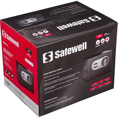 Cofre eletrônico digital 17x21x17cm 17EF Safewell CX 1 UN
