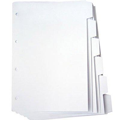 Divisória p/ fichário universitário 4 argolas c/ 6 projeções 180g branco Mano PT 1 UN