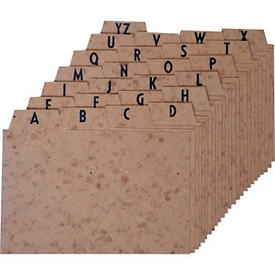 Indice a/z marmorizado 5x8 para fichário Mano PT 1 UN