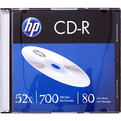 Cd-r gravável (80min/700mb)52x slim HP CX 1 UN