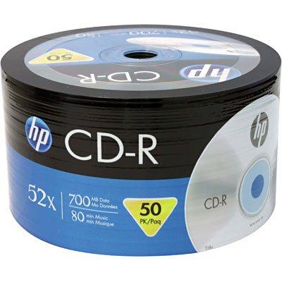 Cd-r gravável (80min/700mb)52x pack HP PT 50 UN