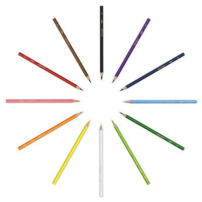 Lápis de Cor BIC Evolution, 12 cores + 4 Lápis Preto de Escrever, Corpo Sextavado, 902545, 1 Unidade - CX 1 UN