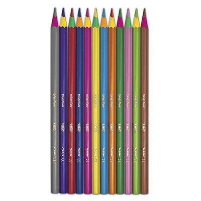 Lápis de Cor 12 cores Evolution Circus sextavado 904233 Bic CX 1 UN