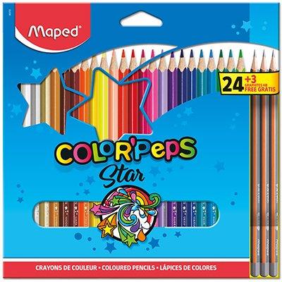 Lápis de Cor Color Peps, 24 cores + 3 lápis grafite, 983703, Maped ET 1 UN