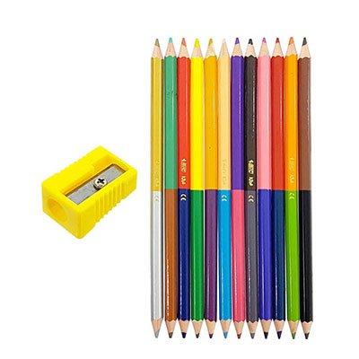 Lápis de Cor 24 cores sextavado c/12 lápis bicolor 7422102 Bic CX 1 UN