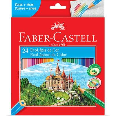 Lápis de Cor 24 cores sextavado 120124G Faber Castell CX 1 UN