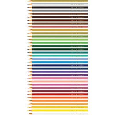 Lápis de Cor 36 cores sextavado 120136G Faber Castell CX 1 UN