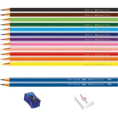 Lápis de Cor 12 cores sextavado (kit) 1201122N Faber Castell ET 1 UN