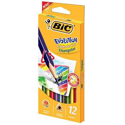 Lápis de Cor 12 cores triangular 930126 BIC BT 1 UN