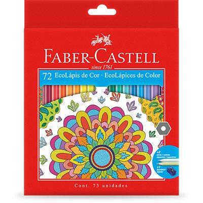 Lápis de Cor 72 cores ecolápis Faber Castell CX 1 UN