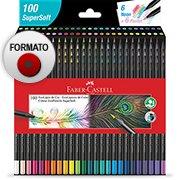 Lápis de Cor 100 cores Ecolapis Supersoft 1207 Faber Castell CX 1 UN