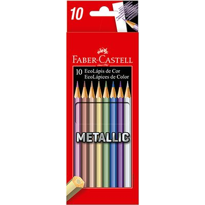 Lápis de Cor 10 cores metálicas 120410G Faber Castell CX 1 UN