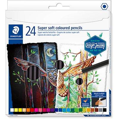 Lápis de Cor 24 cores sextavado Soft Staedtler - 149C C24 PT 1 UN