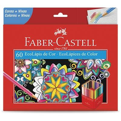 Lápis de Cor 60 cores sextavado 120160G Faber Castell CX 1 UN