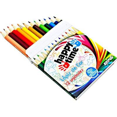 Lápis de Cor 12 cores meio lápis redondo HT 11.1702 Happy-time PT 1 ET