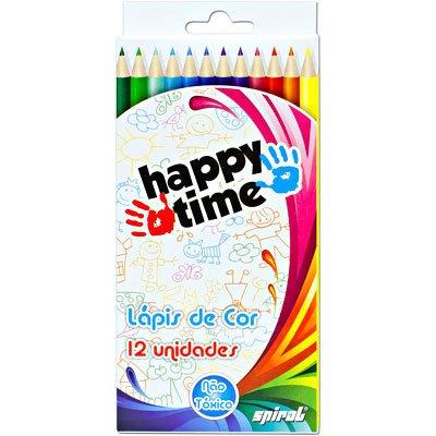 Lápis de Cor 12 cores redondo HT 11.1701 Happy-time PT 1 ET