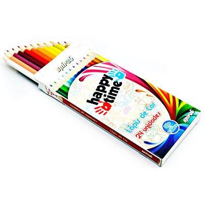 Lápis de Cor 24 cores redondo HT 11.1703 Happy-time PT 1 ET