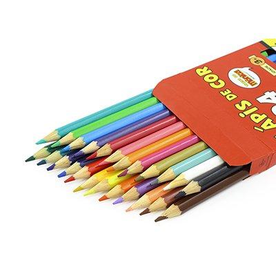 Lápis de Cor 24 cores sextavado Turma da Mônica Spiral Tdm PT 1 UN