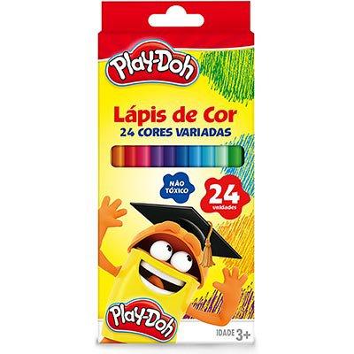 Lápis de Cor 24 cores sextavado Play Doh 11.1724PD Play Doh PT 1 UN