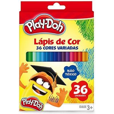 Lápis de Cor 36 cores redondo Play Doh 11.1736PD Play Doh PT 1 UN