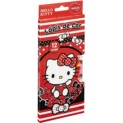 Lápis de Cor 12 cores Hello Kitty sortido 21640 Molin CX 1 UN