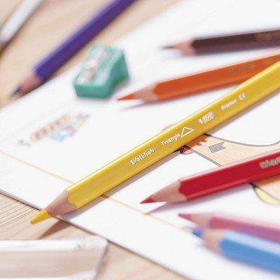 Lápis de Cor 12 cores triangular gigante Evolution 891853 BIC CX 1 UN